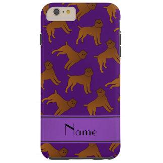 Perros púrpuras conocidos personalizados del funda para iPhone 6 plus tough