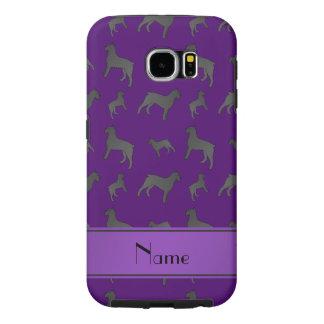 Perros púrpuras conocidos personalizados del fundas samsung galaxy s6
