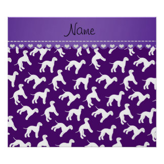 Perros púrpuras conocidos personalizados del póster