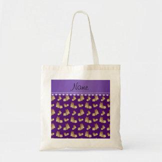 Perros púrpuras conocidos personalizados del tzu bolsa tela barata