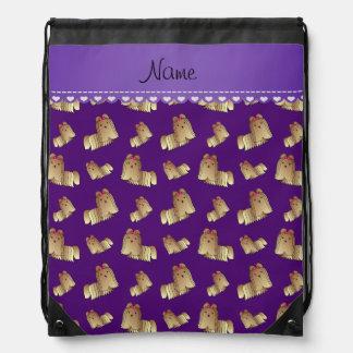 Perros púrpuras conocidos personalizados del tzu mochilas