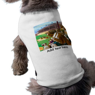 Perros que juegan a béisbol playera sin mangas para perro