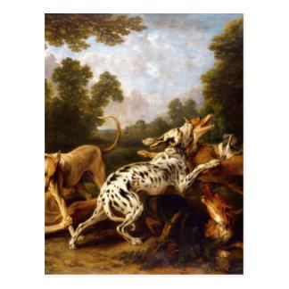 Perros que luchan por Francisco Snyders Tarjetas Postales