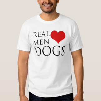 Perros reales del amor de los hombres camisas