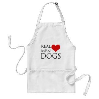 Perros reales del amor de los hombres delantal