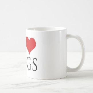 Perros reales del amor de los hombres taza de café