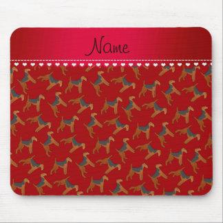 Perros rojos conocidos personalizados de los mousepads