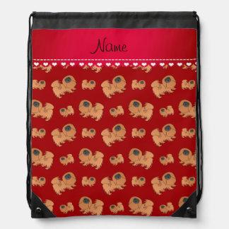 Perros rojos conocidos personalizados de Pekingese Mochilas