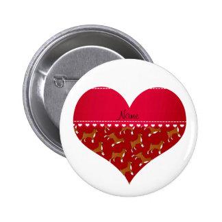 Perros rojos conocidos personalizados del basenji pin redondo 5 cm