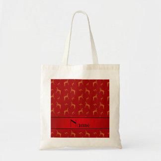 Perros rojos conocidos personalizados del bolsa tela barata