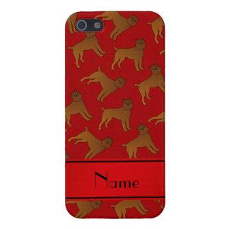 Perros rojos conocidos personalizados del griffon iPhone 5 carcasa