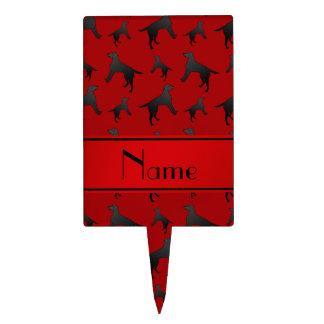 Perros rojos conocidos personalizados del labrador decoraciones para tartas