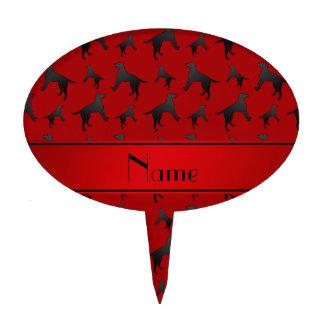 Perros rojos conocidos personalizados del labrador figura para tarta