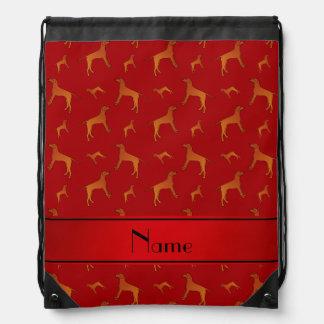 Perros rojos conocidos personalizados del mochila