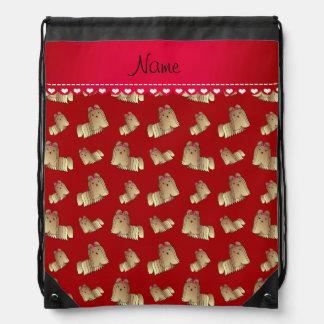 Perros rojos conocidos personalizados del tzu de mochilas
