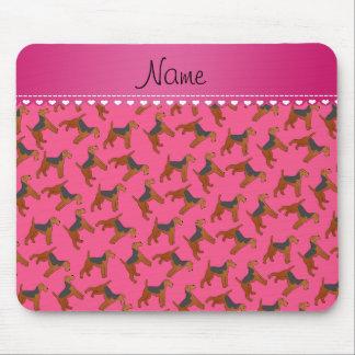 Perros rosados conocidos personalizados de los alfombrilla de ratones