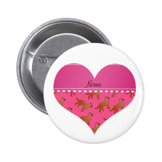 Perros rosados conocidos personalizados de los pin redondo 5 cm