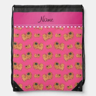 Perros rosados conocidos personalizados de mochilas