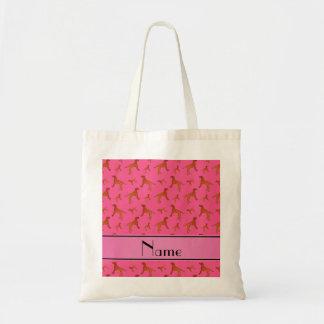 Perros rosados conocidos personalizados del bolsa tela barata