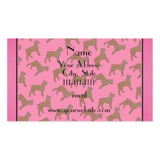 Perros rosados conocidos personalizados del DES Tarjetas De Visita