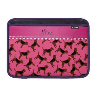 Perros rosados conocidos personalizados del fundas para macbook air
