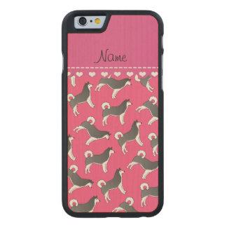 Perros rosados conocidos personalizados del funda de iPhone 6 carved® de arce