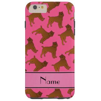 Perros rosados conocidos personalizados del funda de iPhone 6 plus tough