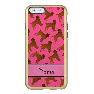 Perros rosados conocidos personalizados del funda para iPhone 6 plus incipio feather shine