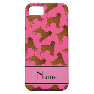 Perros rosados conocidos personalizados del iPhone 5 carcasa