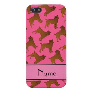 Perros rosados conocidos personalizados del iPhone 5 carcasas