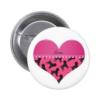 Perros rosados conocidos personalizados del pin redondo 5 cm