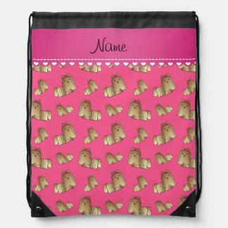Perros rosados conocidos personalizados del tzu de mochilas