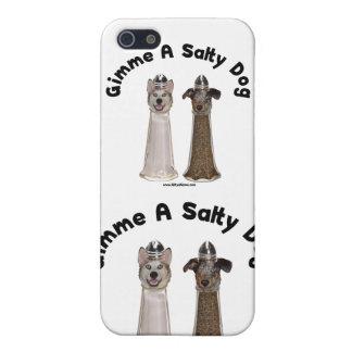 Perros salados de la sal y de la pimienta del perr iPhone 5 cárcasas
