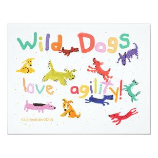 """Perros salvajes invitación 4.25"""" x 5.5"""""""