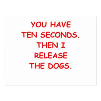 perros tarjeta postal