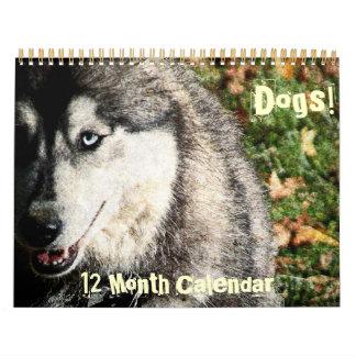 Perros - un calendario de 12 meses