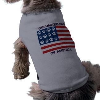 Perros unidos de América Playera Sin Mangas Para Perro