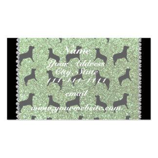 Perros verdes claros conocidos personalizados del tarjetas de visita