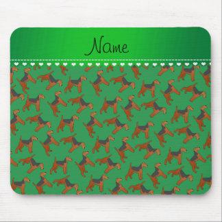 Perros verdes conocidos personalizados de los mouse pad