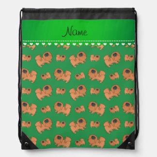 Perros verdes conocidos personalizados de mochilas