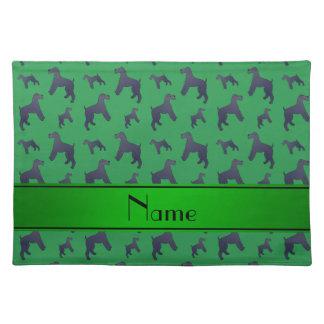 Perros verdes conocidos personalizados de Terrier Manteles Individuales