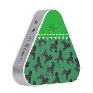 Perros verdes conocidos personalizados del altavoz