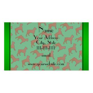 Perros verdes conocidos personalizados del DES Tarjetas De Visita