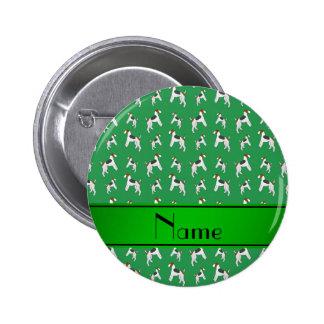 Perros verdes conocidos personalizados del fox pin redondo 5 cm