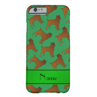 Perros verdes conocidos personalizados del griffon funda de iPhone 6 barely there