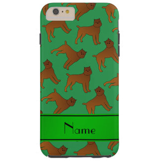 Perros verdes conocidos personalizados del griffon funda para iPhone 6 plus tough