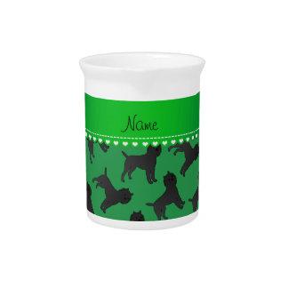 Perros verdes conocidos personalizados del jarrones