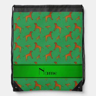 Perros verdes conocidos personalizados del mochila