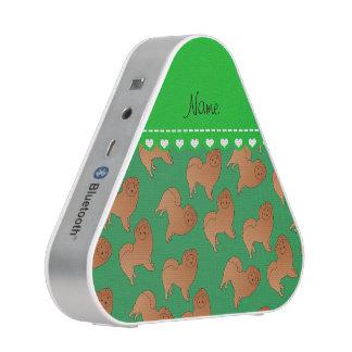 Perros verdes conocidos personalizados del perro altavoz