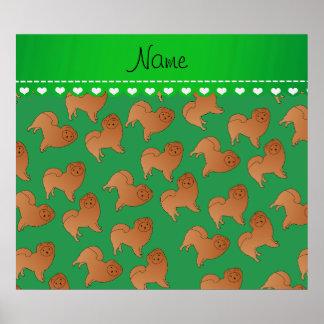 Perros verdes conocidos personalizados del perro póster